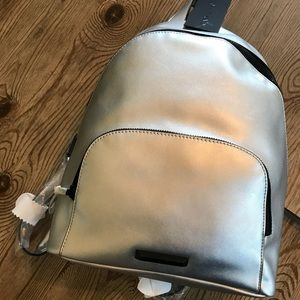 NWT KENDALL AND KYLIE SILVER BACKPACK